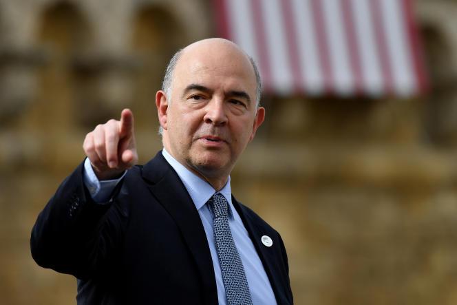 Le commissaire européen à l'économie, Pierre Moscovici, à Bari, en Italie, le 12 mai 2017.
