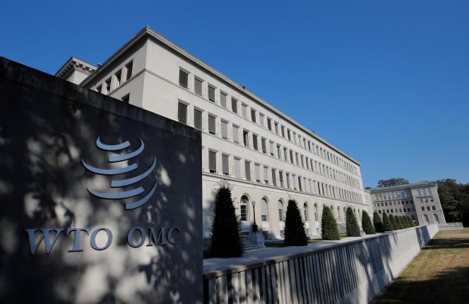 Le siège de l'Organisation mondiale du commerce (OMC), à Genève, en juillet.