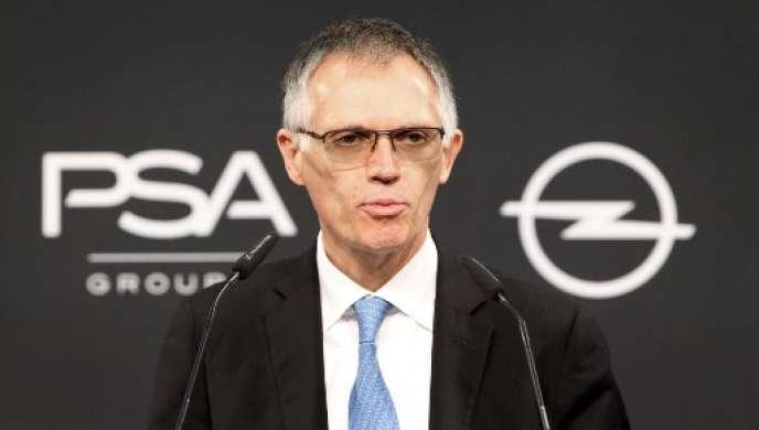 Carlos Tavares, président du directoire de PSA, le 9 novembre 2017.