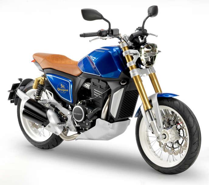 Le concept P2X, exposé au Mondial de la Moto 2018.