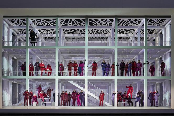 «Les Huguenots», de Giacomo Meyerbeer, dans une mise en scène d'Andreas Kriegenburg à l'Opéra national de Paris.
