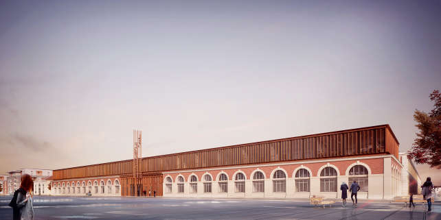 Le futur bâtiment du Centre des savoirs pour l'innovation.