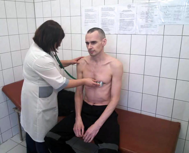 Photo d'Oleg Sentsov diffusée par les services pénitentiaires russes, datée du 29 septembre 2018.