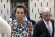 La fille d'Hélène Pastor, Sylvia Janowski, quitte la salle d'audience de la Cour d'assises des Bouches-du-Rhône, à Aix-en-Provence, le 17 septembre.