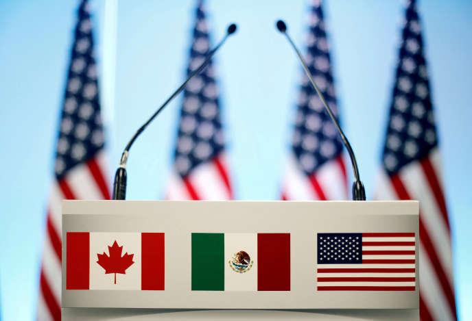 Lors de la clôture du septième round de négociation de l'Alena, à Mexico, le 5 mars.