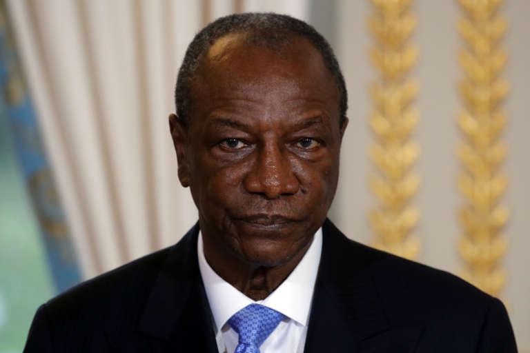 Le président guinéen Alpha Condé, à Paris, le 22 novembre 2017.