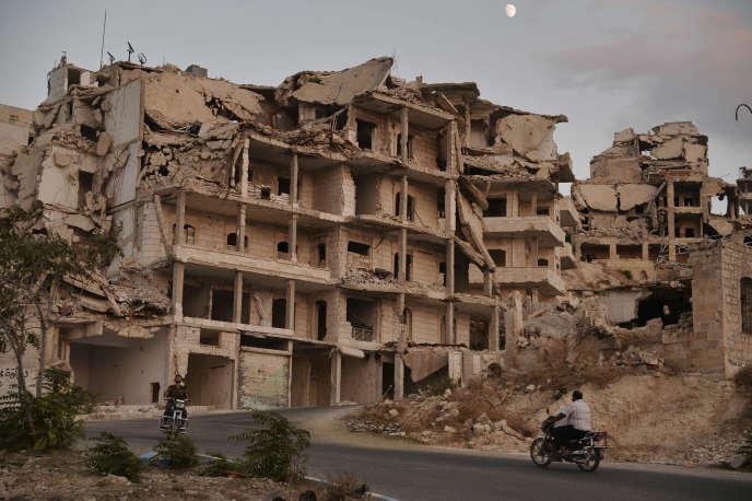 Au nord de la ville d'Ariha, dans la province d'Idlib, le 20 septembre.