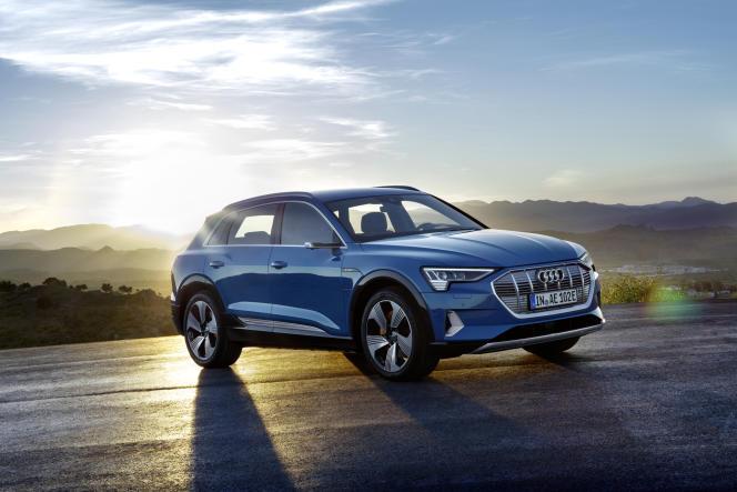 Le nouveau SUV électrique d'Audi répond au doux nom d'e-tron.