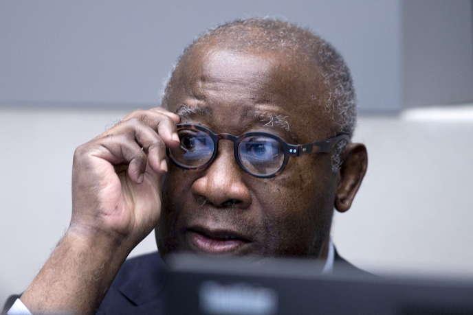L'ancien président ivoirien Laurent Gbagbo à l'ouverture de son procès devant la Cour pénale internationale, le28janvier2016.