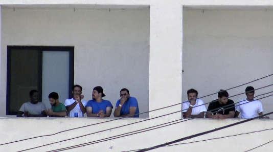 Le centre maltais où sont maintenues les cinquante-huit personnes débarquées de l'«Aquarius» le 30septembre.