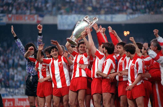 le 29 mai 1991, à Bari (Italie), l'Etoile rouge de Belgrade bat l'OM en finale de la Coupe d'Europe des clubs champions.