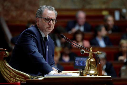 Le président de l'Assemblée nationale, Richard Ferrand (LRM), au perchoir, le 2 octobre 2018.