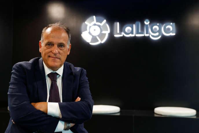 Javier Tebas, le 2 octobre, à Madrid