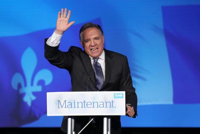 François Legault, à Québec, le 1er octobre.