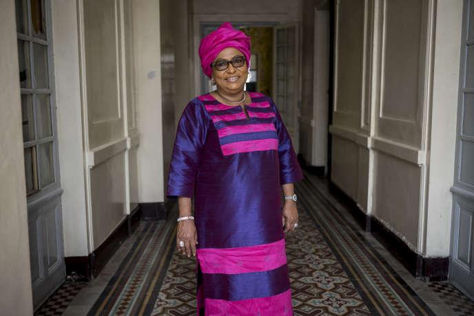 Soham El Wardini à la mairie de Dakar, en février 2018.