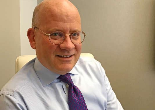 Le président sortant de General Electric (GE), John Flannery, à New York, le 26 juin.
