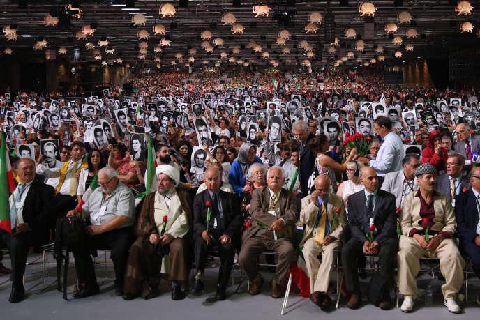 Le meeting du Conseil national de la résistance iranienne, à Villepinte, le 30 juin.