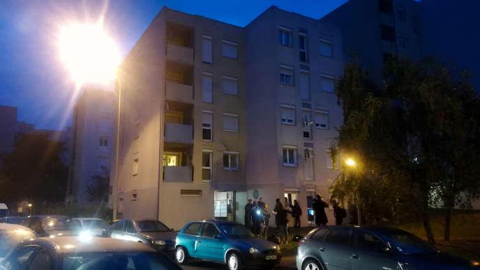 L'immeuble de Creil (Oise) où ont été interpellées quatre personnes, dont Redoine Faïd, le 3 octobre 2018.