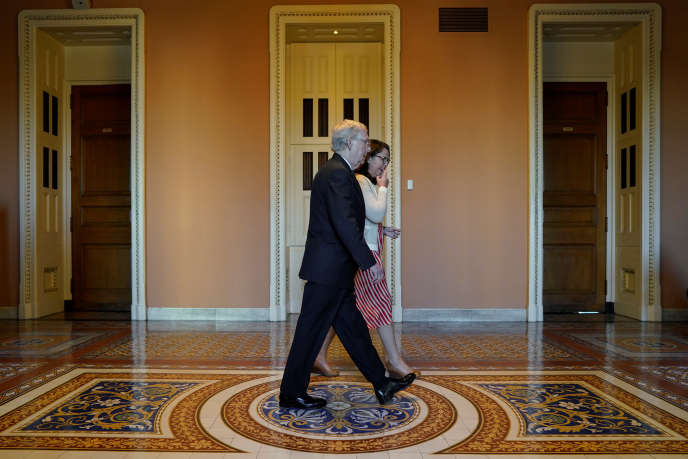 Mitch McConnell, le chef de la majorité républicaine au Sénat, à Washington, le 3 octobre.