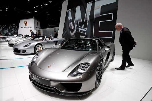 Au Mondial de l'automobile, à Paris, le 3 octobre.