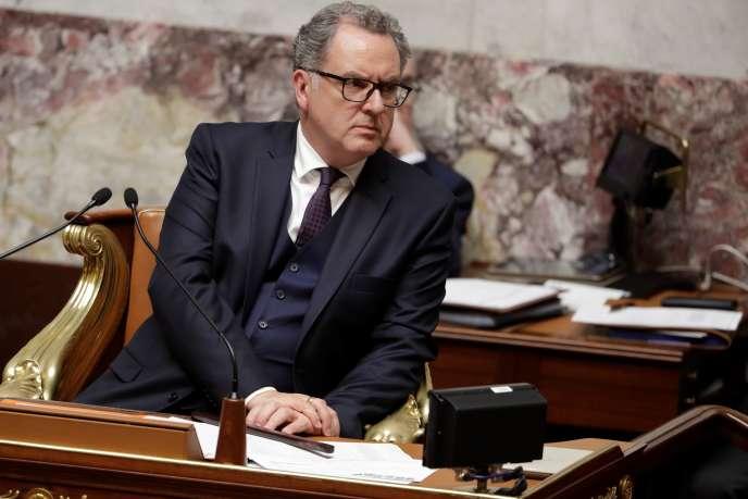 Richard Ferrand, président de l'Assemblée nationale, lors des questions au gouvernement, le 3octobre.