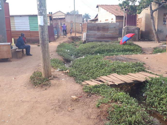Dans le bidonville de Kamwokya, à Kampala, où lechanteur et député d'opposition ougandais Robert Kyagulanyi, alias Bobi Wine, a grandi.