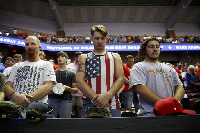 Lors d'un meeting de Donald Trump à Southaven (Mississippi), le 2 octobre.