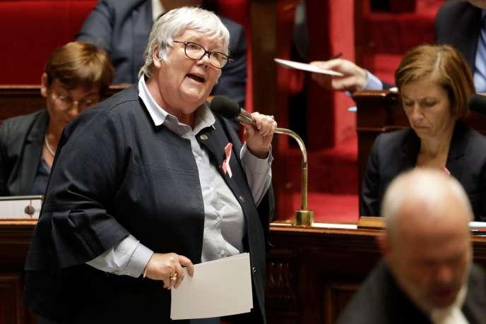 la ministre auprès du ministre de l'intérieur, Jacqueline Gourault, le 3octobre à l'Assemblée nationale.