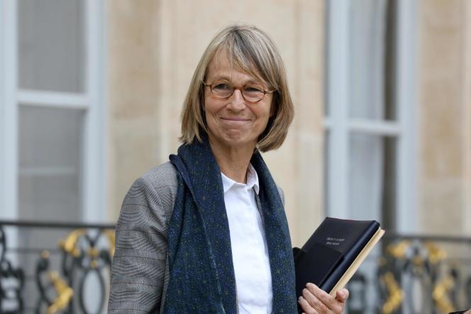 La ministre de la culture Françoise Nyssen à l'Elysée, le 3 octobre 2018.