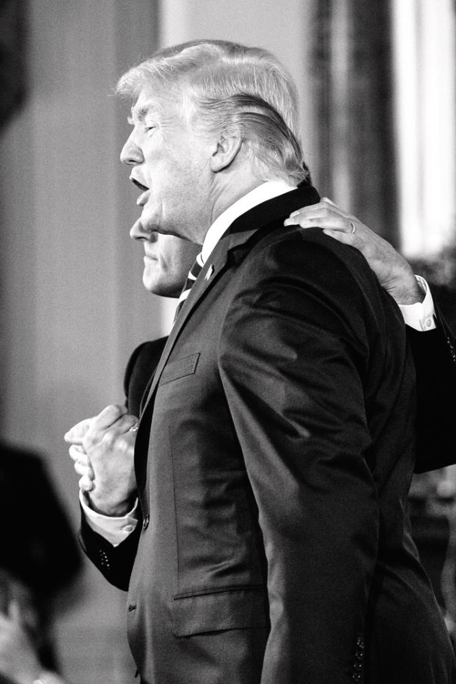 Donald Trump et Emmanuel Trump, à Washington le 24 avril 2018.