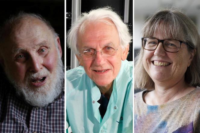 Arthur Ashkin, Gérard Mourou et Donna Strickland, prix Nobel de physique 2018.