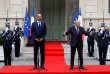 Gérard Collomb et Edouard Philippe, premier ministre, lors de la passation des pouvoirs, le 3 octobre, à Paris.