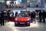 La Tesla 3 sur le stand de la marque américaine au Mondial de Paris, le 2 octobre.
