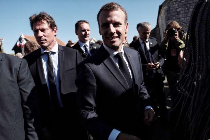Emmanuel Macron, lors du 60e anniversaire de la Constitution de la Ve République, à Colombey-les-Deux-Eglises, le 4 octobre 2018.