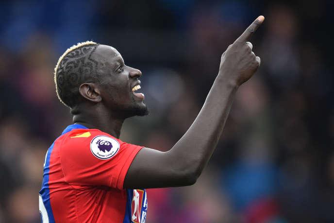 Mamadou Sakho avec le maillot de Crystal Palace, le 18 mars 2017.