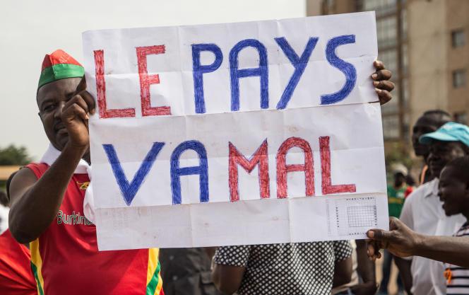 Manifestation à l'appel de l'opposition à Ouagadougou, capitale du Burkina Faso, le 29septembre 2018.