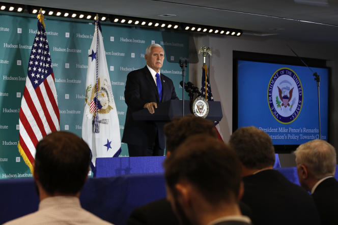 Mike Pence, le 4 octobre 2018 à Washington.
