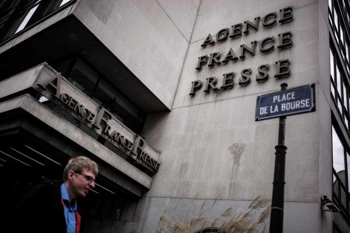 Les locaux de l'Agence France-Presse, dans le 2earrondissement à Paris.