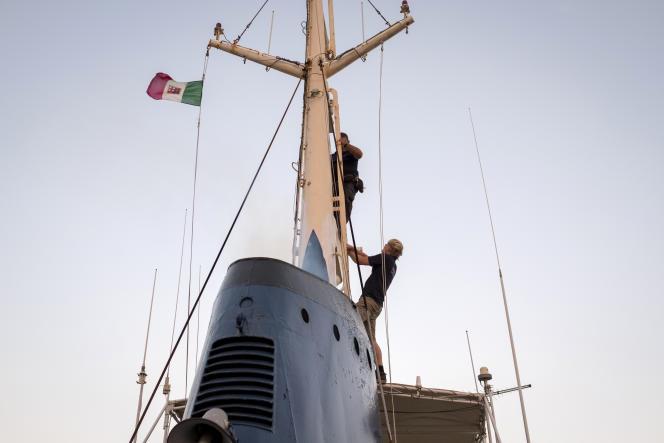 Le « Mare-Ionio» bat pavillon italien, un pavillon très difficile à obtenir.