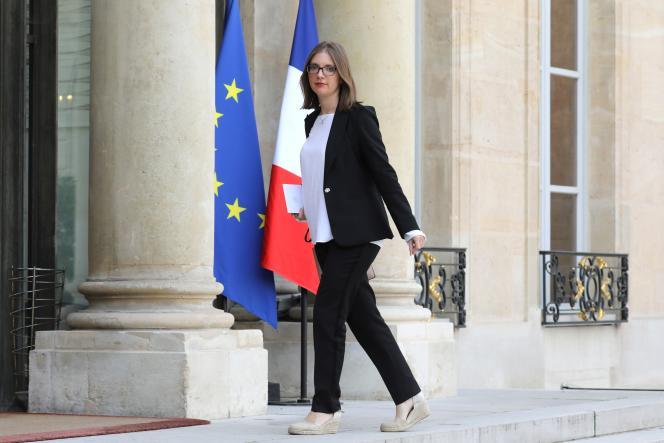 La députée Aurore Bergé (La République en marche, LRM), rapporteure de la mission d'information sur une nouvelle régulation de la communication audiovisuelle, à l'Elysée, le 17 octobre 2017.