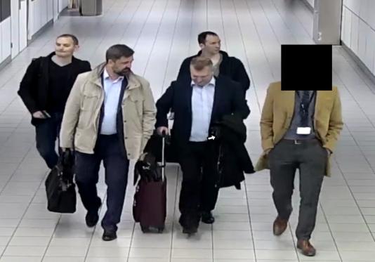 Les quatre Russes accusés par les Pays-Bas d'appartenir au renseignement militaire russe.