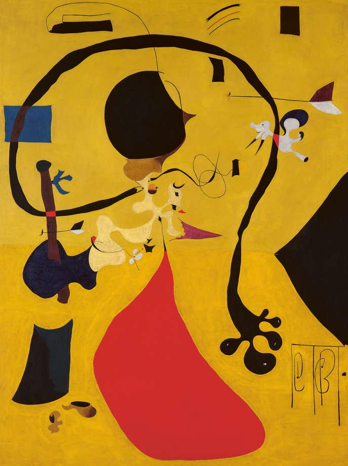 « Intérieur hollandais(III)» (1928), de Joan Miro, huile sur toile.