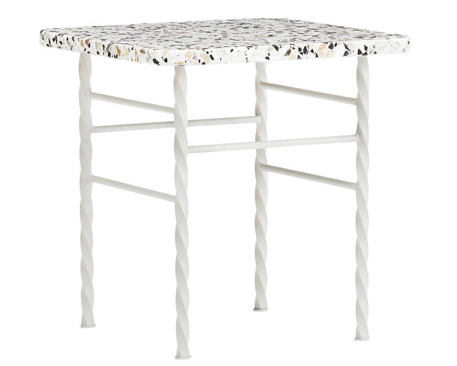 Table Terra de Normann Copenhagen, en terrazzo et acier laqué, chez Made in Design.
