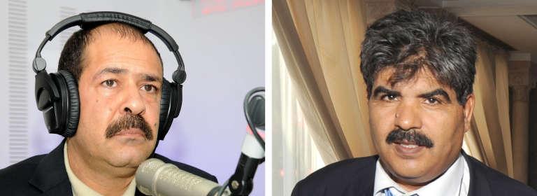 Les figures de la gauche tunisienneChokri Belaïd et Mohamed Brahmi, en 2012.
