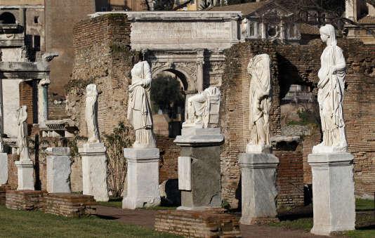 Le Forum romain, à Rome.