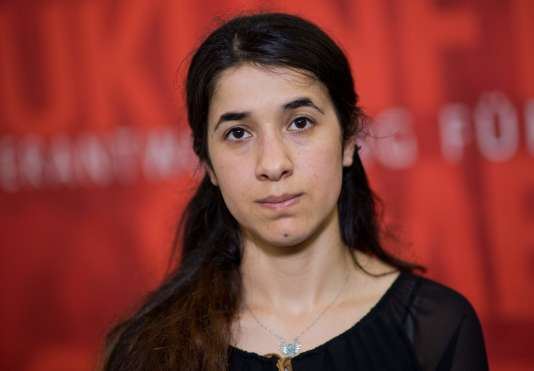 Nadia Murad le 31 mai 2016 à Hanovre, en Allemagne.