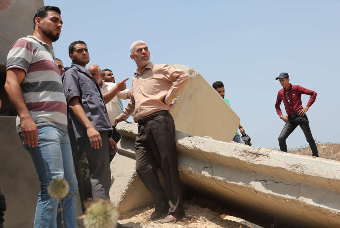 Yahya Sinouar à Rafah, le 6 juillet 2017.