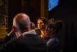 Emmanuel Duez, Elise Huilery, et Philippe Escande converse autour de la question des différentes formes et de l'avenir du capitalisme à notre époque, lors du Festival du Monde, le 6 octobre au Palais Garnier.