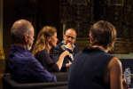 Barbara Hannigan, Claus Guth et Emmanuel Davidenkoff lors du Monde Festival au Palais Garnier, samedi 6 octobre.