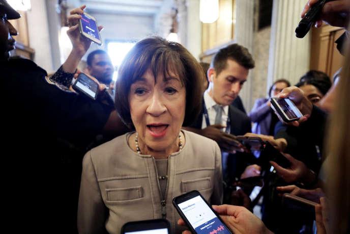 La sénatrice Susan Collins, le 5 octobre au sénat.